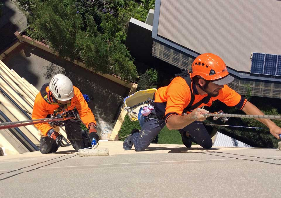 Alltech Abseilers Painting Brisbane - Commerical High Rise Painting