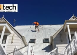 Pressure Cleaning Maleny Manor - Alltech Industrial Abseilers restoring steep roof