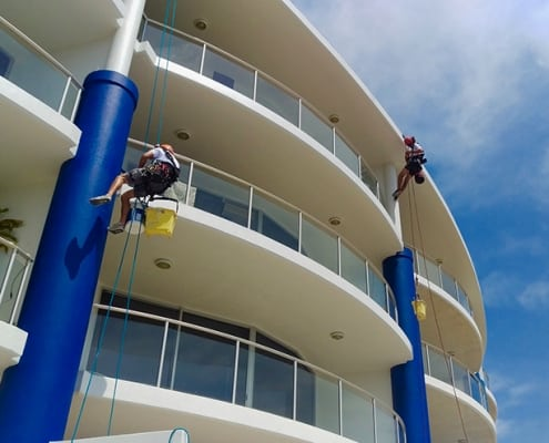 Bluewater Point Resort - Alltech Abseilers restore resorts, rope access commercial painting