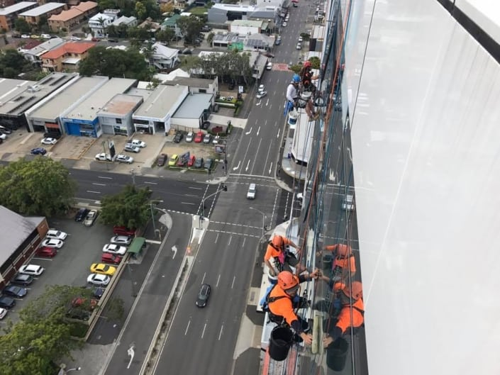 Commercial Window Cleaning Brisbane - High Rope Access done safe