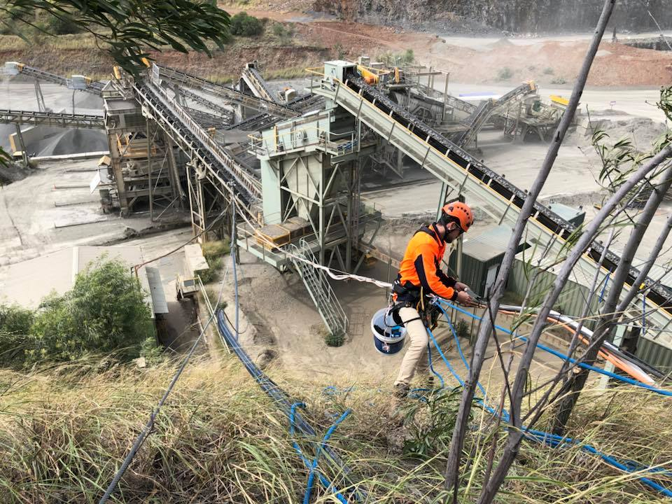 Professional Height Safety Inspections - Industrial abseilers, mining shutdowns