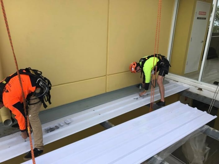 Roof Restoration - Access using ropes, no scaffolding required