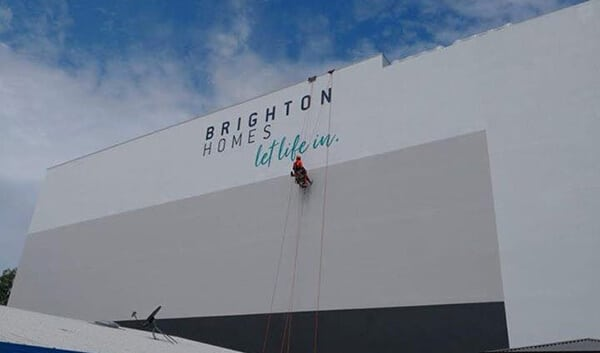 Commercial Painting Rope Access - Sign Installations Rope Access