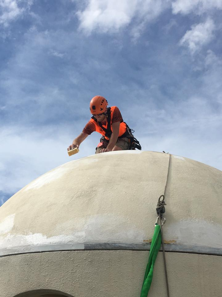 Rope Access Industrial Abseilers Commercial Painting Dome Top Resort Hotel - Roof Restorations
