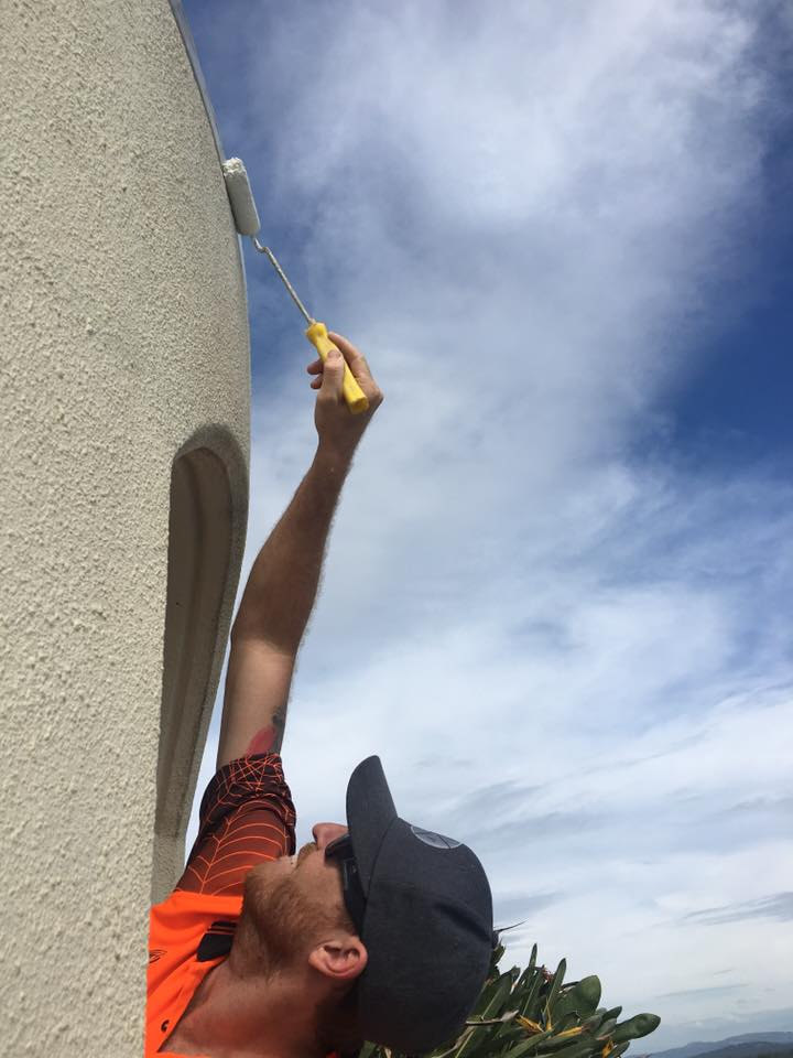 Rope Access Industrial Abseilers Commercial Painting Final Touches - Best Commercial Painters