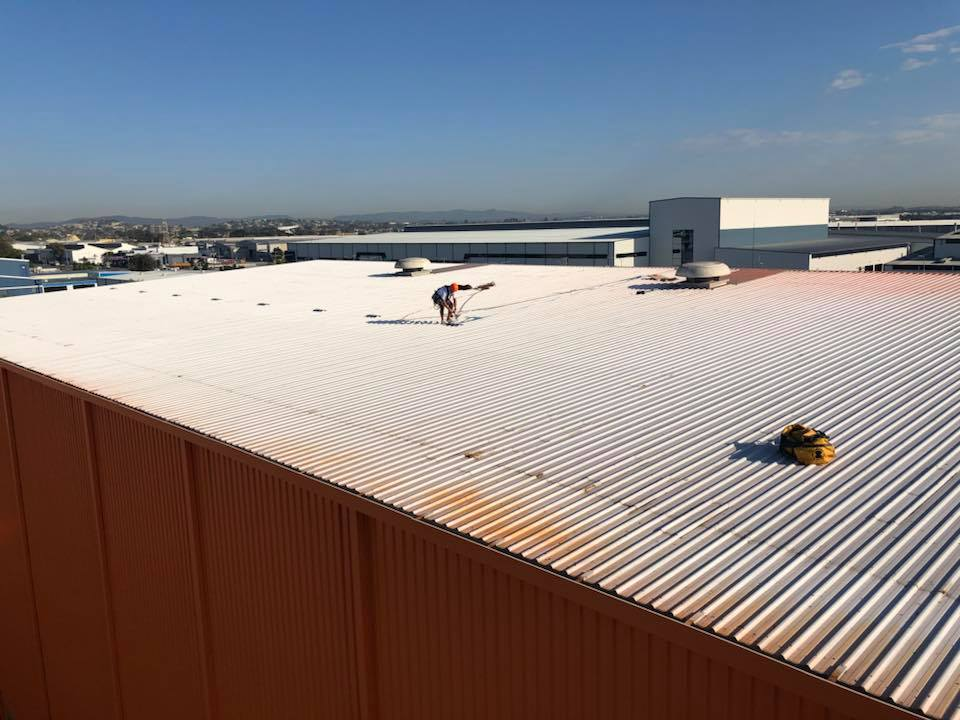 Rope Access Industrial Abseilers Commercial Painting Roof Top -