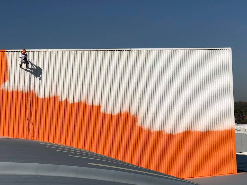 Rope Access Industrial Abseilers Commercial Painting Walls - Brick, Roof Sheeting,