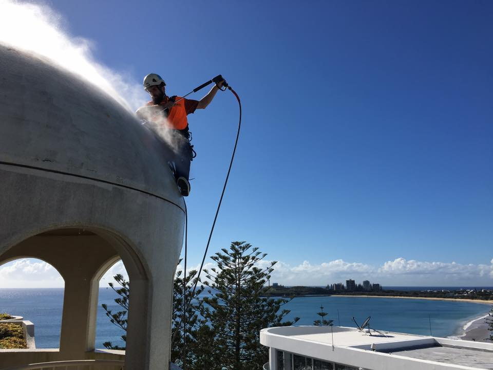Rope Access Roof Restorations Repairs - Industrial Abseilers