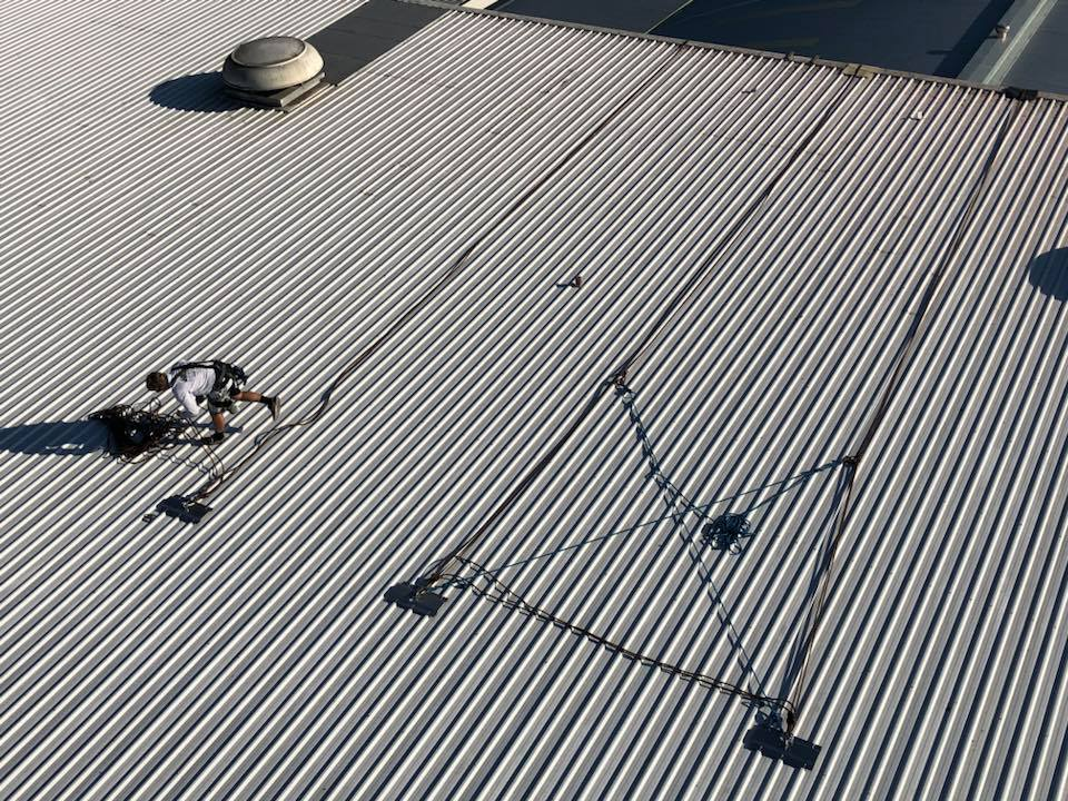 Rope Access Roof Restorations Safety Equipment - Fall Restraint Systems