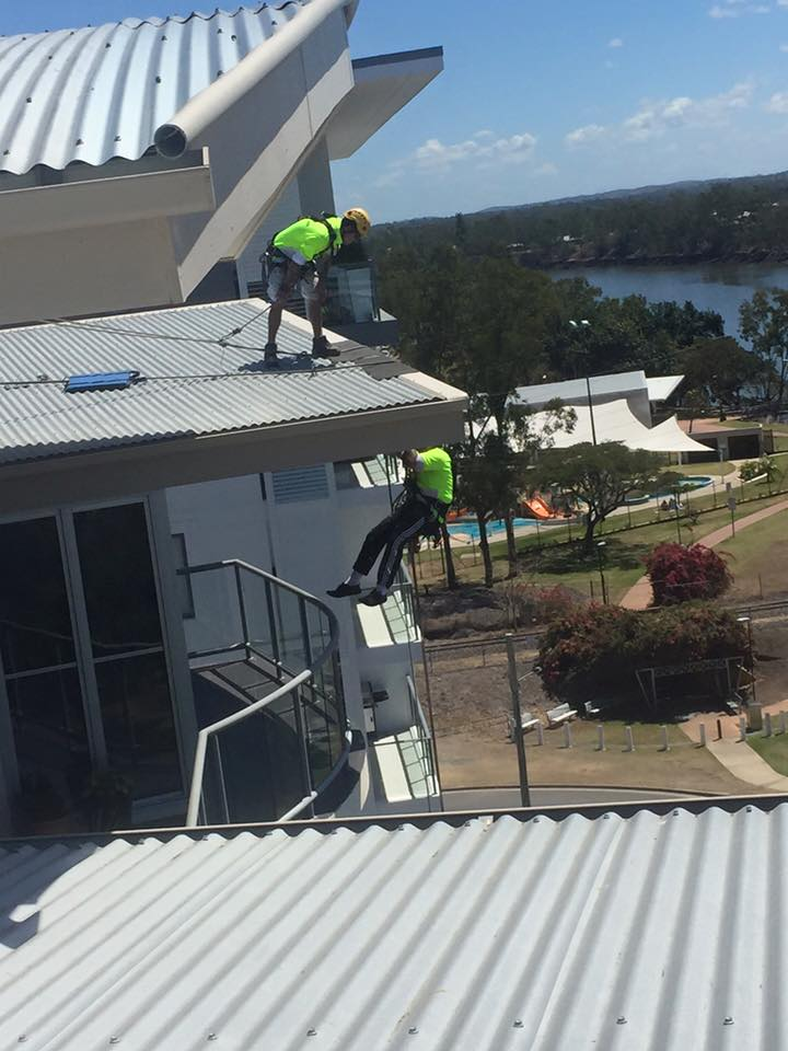 Rope Access Roof Restorations Setting Up - Cheapest Roof Restorations