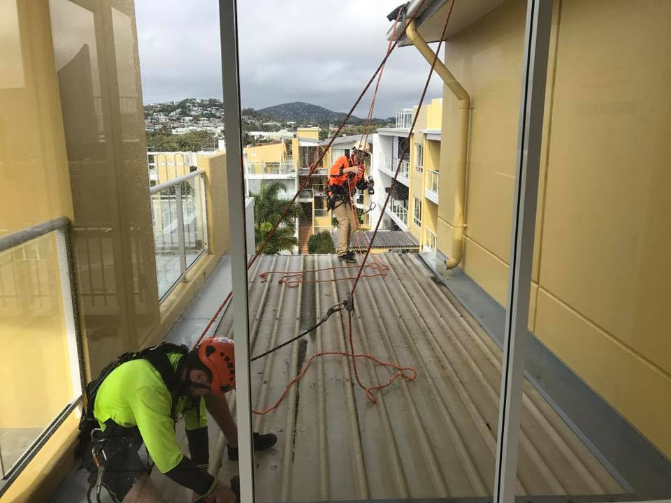 Rope Access Roof Restorations Unit Complex - Affordable Building Inspections