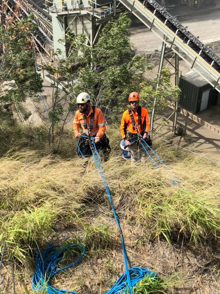Shutdowns Industrial Abseilers Boys Together - Rope Access Services