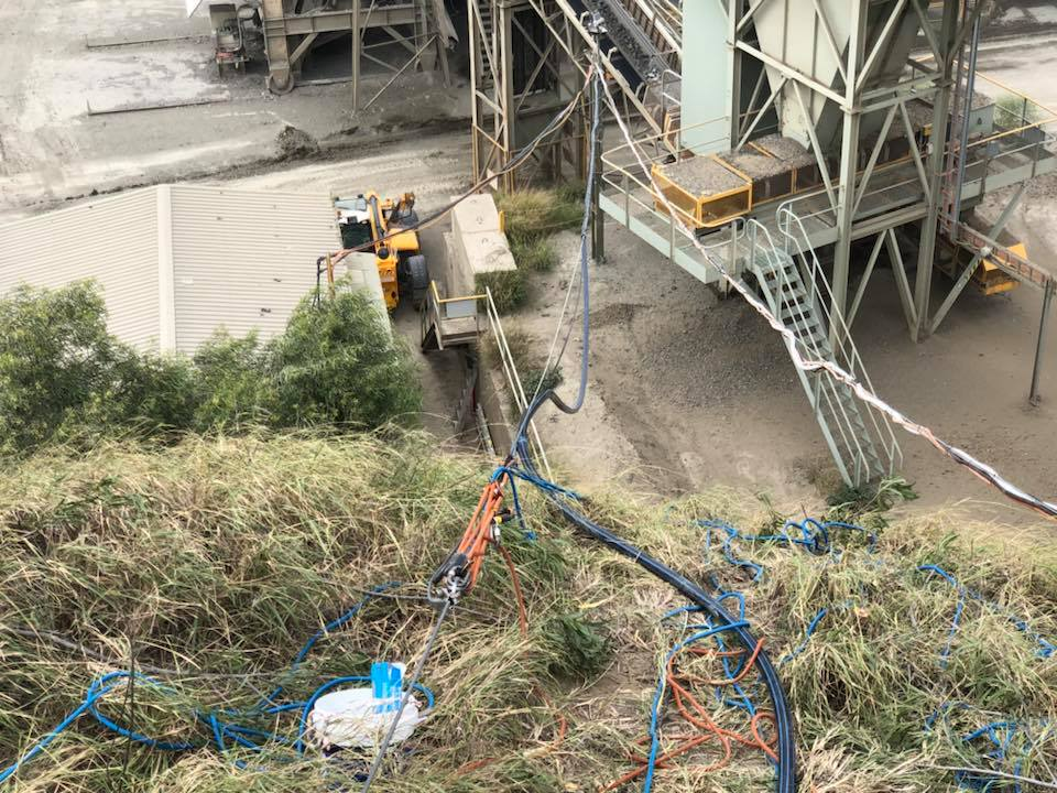 Shutdowns Industrial Abseilers Climbing Slope - Rope Access Hard Reached Location Experts