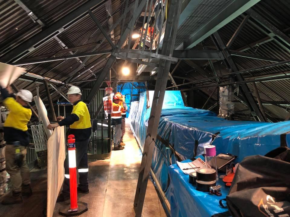 Shutdowns Industrial Abseilers Factory Refurbishment - Rope Access Restorations