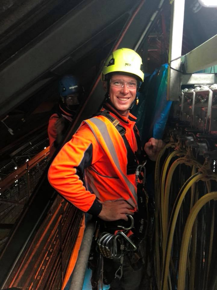Shutdowns Industrial Abseilers Happy Team Member - Hire Rope Access Tradesmen