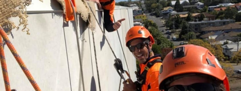 Wesley Specialists Centre Rope Access Signage Installation - Rope Access Sign Services