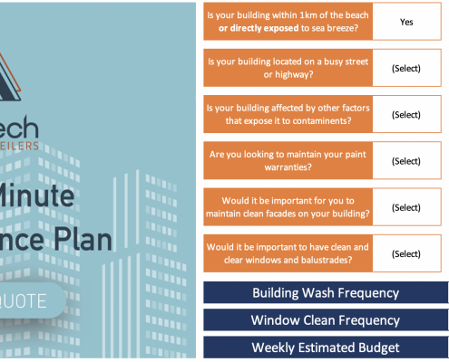Picture of high rise pressure cleaning and window cleaning plan
